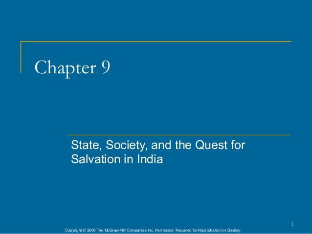 Chapter 9      State, Society, and the Quest for      Salvation in India                                                  ...