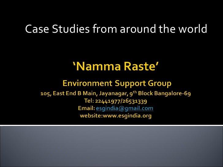 Case Studies from around the world