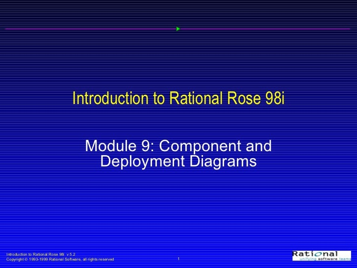 Introduction to Rational Rose 98i Module 9: Component and Deployment Diagrams