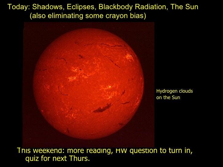 09 Feb 19 Blackbody, Sun