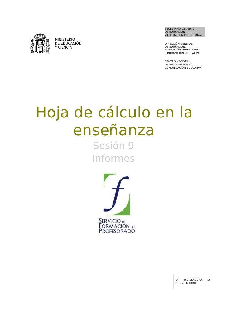 09  Hoja De Calculo En La EnseñAnza. Informes