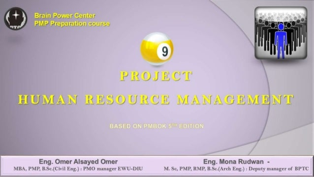 09 PMP Project Human Resources Management PMBOK 5th edittion