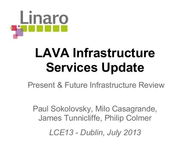 LCE13: Linaro Infrastructure Update
