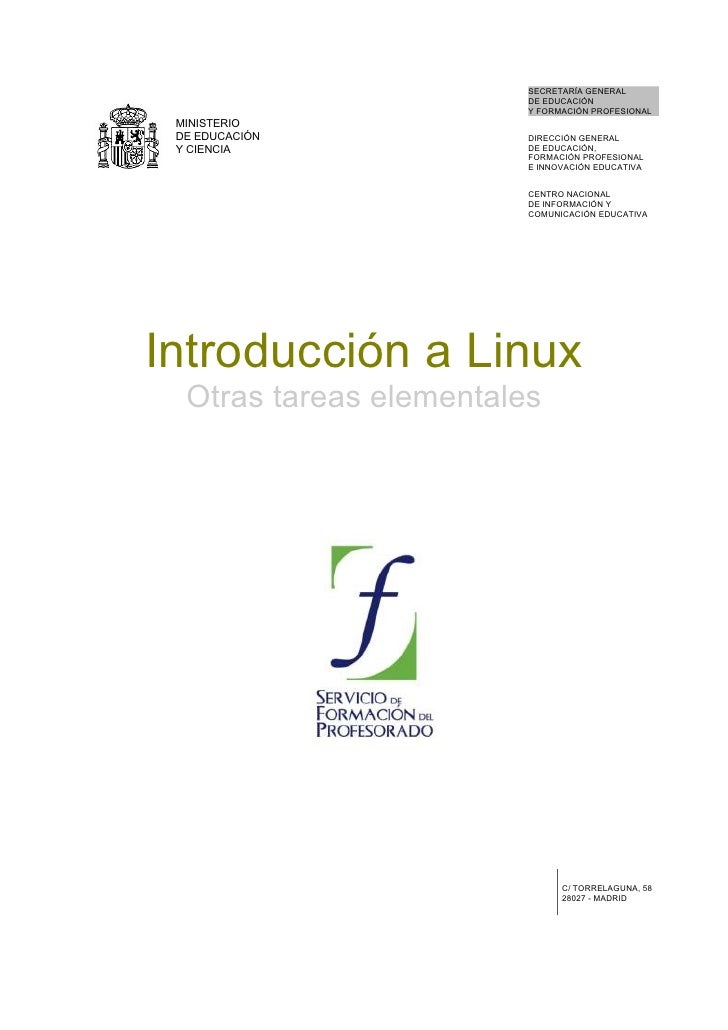 09 Introduccion A Linux. Otras Tareas Elementales