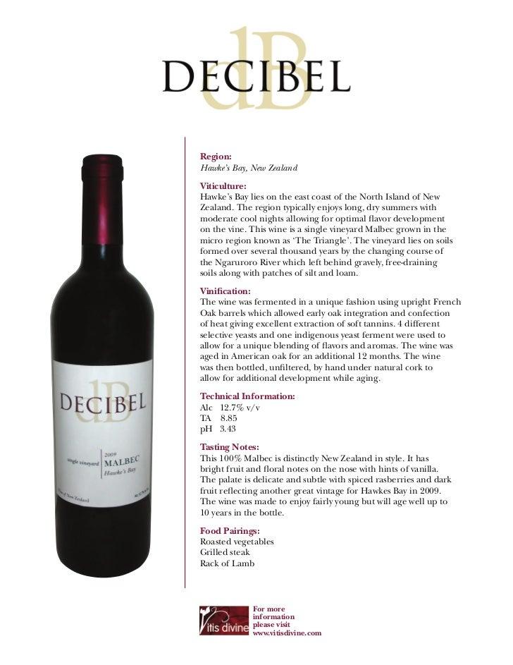 2009 Decibel 'Single Vineyard' Hawkes Bay Malbec