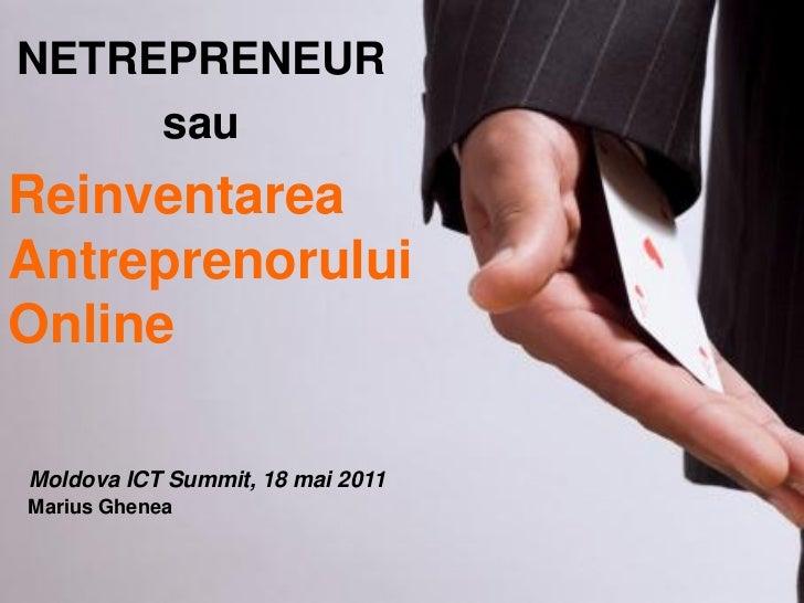 Netrepreneur, the New Breed of Entrepreneurs
