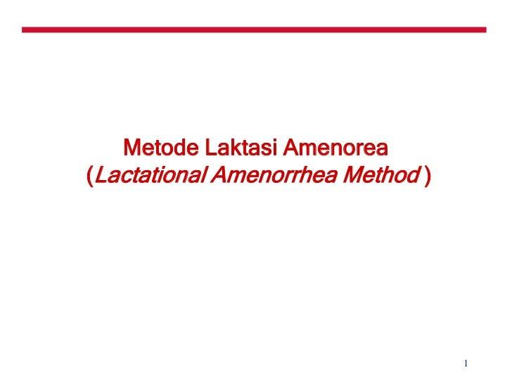 Metode Amenore Laktasi