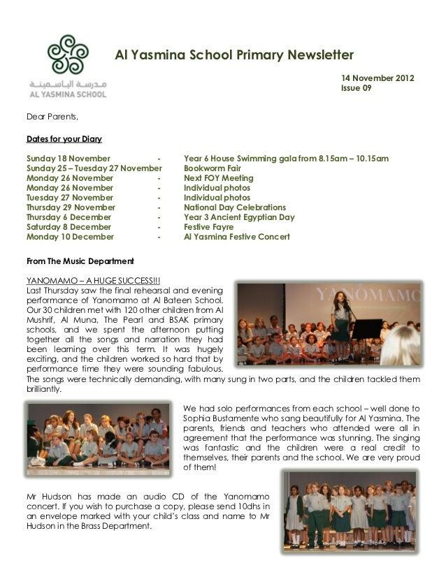 09 newsletter 14 11-2012