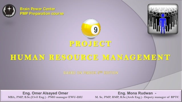 09 project human resources management pmbok 5th