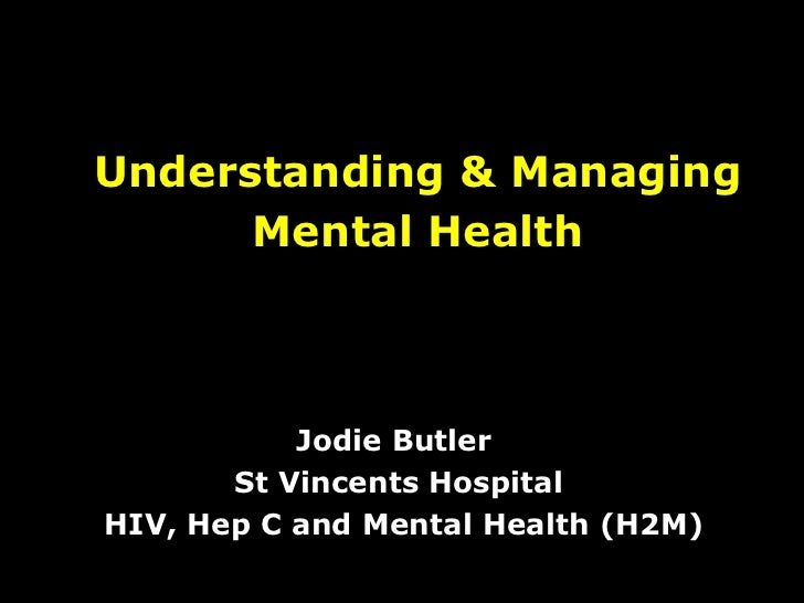 Understanding & Managing Mental Health