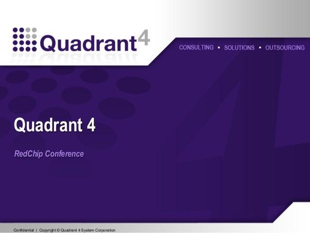 Confidential | Copyright © Quadrant 4 System CorporationConfidential | Copyright © Quadrant 4 System Corporation RedChip C...
