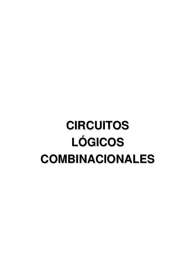 CCIIRRCCUUIITTOOSSLLÓÓGGIICCOOSSCCOOMMBBIINNAACCIIOONNAALLEESS