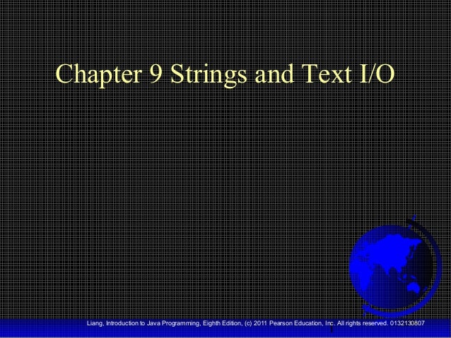 """Java™ (OOP) - Chapter 9: """"Strings and Text I/O"""""""