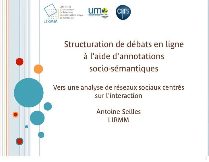soutenance Annotation Socio-sémantique