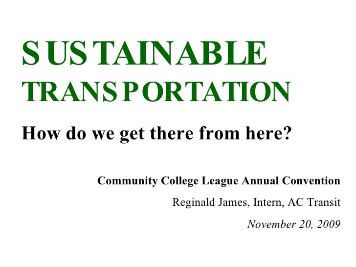 Sustainable Transportation (2009)