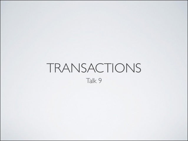 09 Transactions