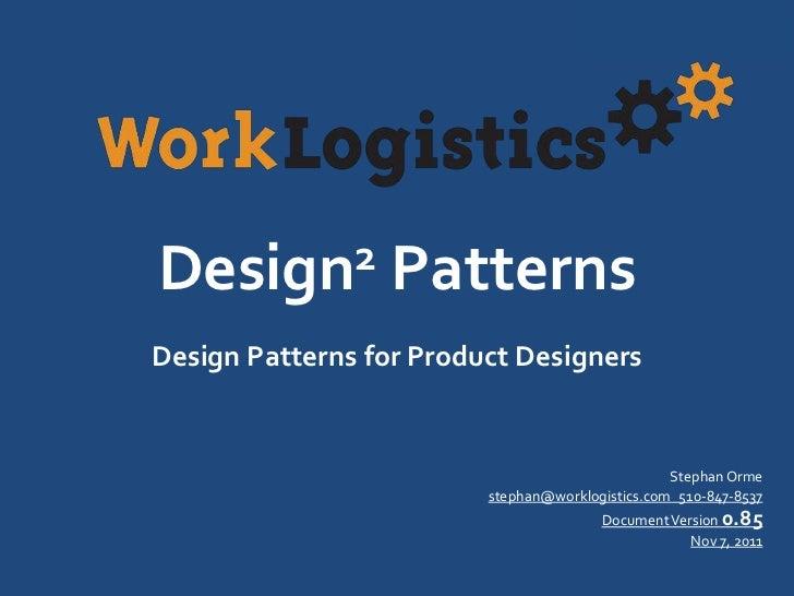 """BizSpark SF Lightning Talk: """"Design Patterns for Designers"""" by Stephan Orme"""