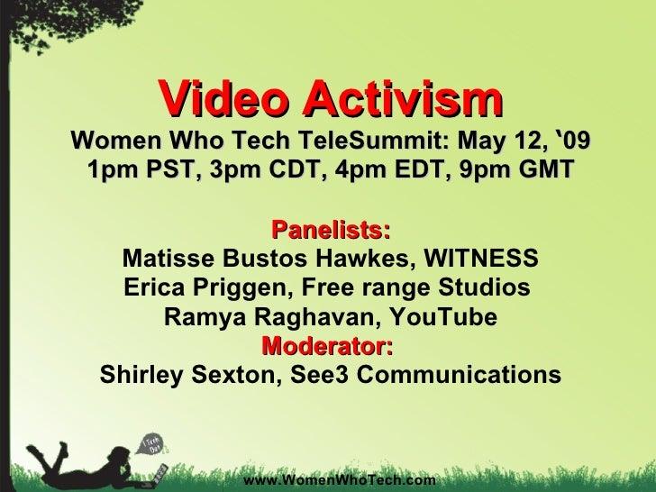 Women Who Tech Video Activism