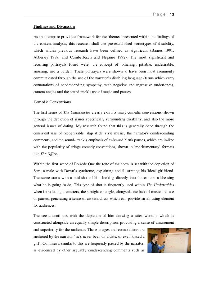 dissertation analysis discussion