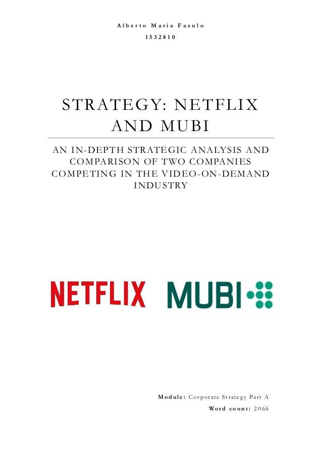 Netflix, Inc.: A Lesson in Strategy