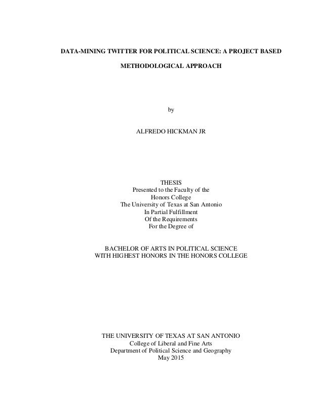 Political science honors thesis columbia