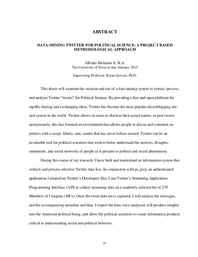 Political science thesis
