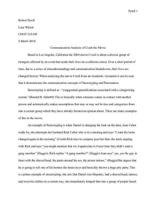 diversity in crash essay