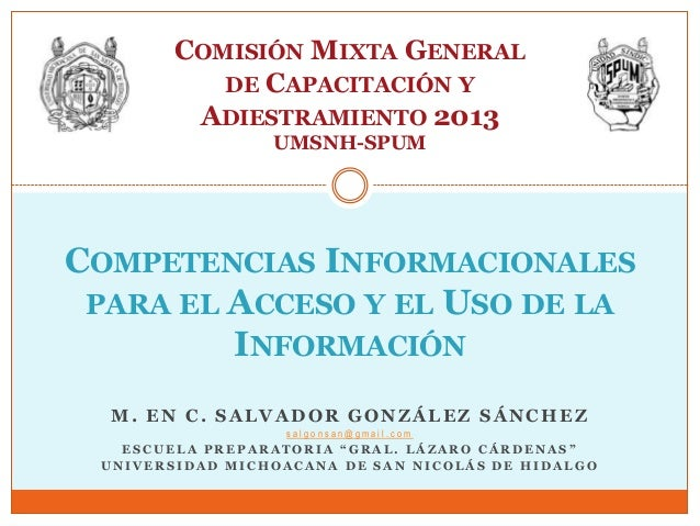 0 competencias informacionales para el acceso y el uso