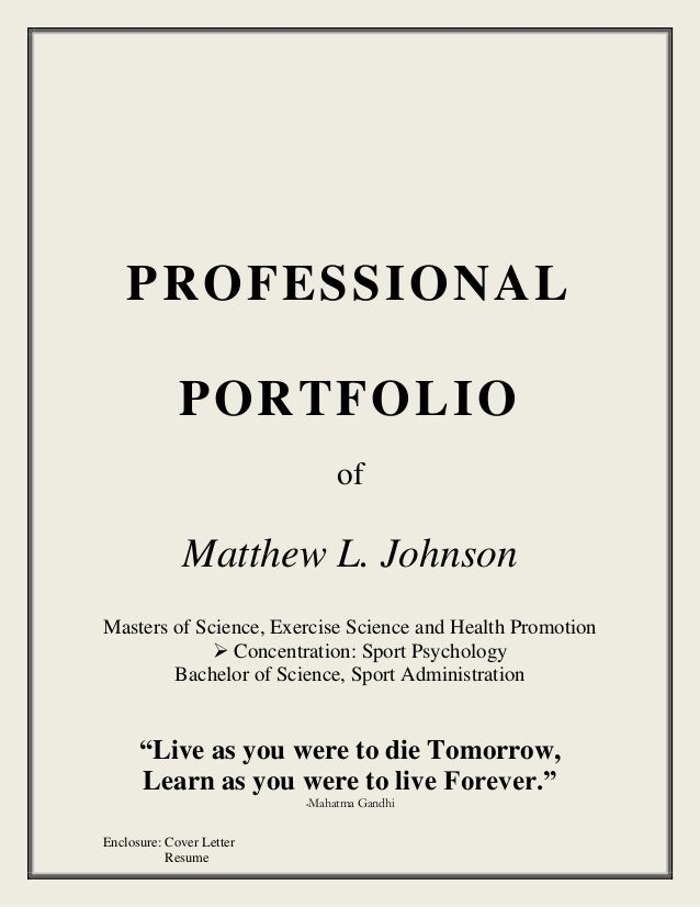 Professional Portfolio Cover Letter Sample Found At Portfolio – Portfolio Cover Page Template