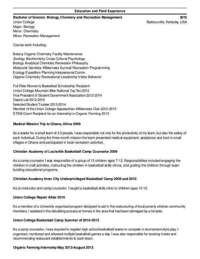 Resume Description Of Camp Counselor Curriculum Vitae Career Cover Letter