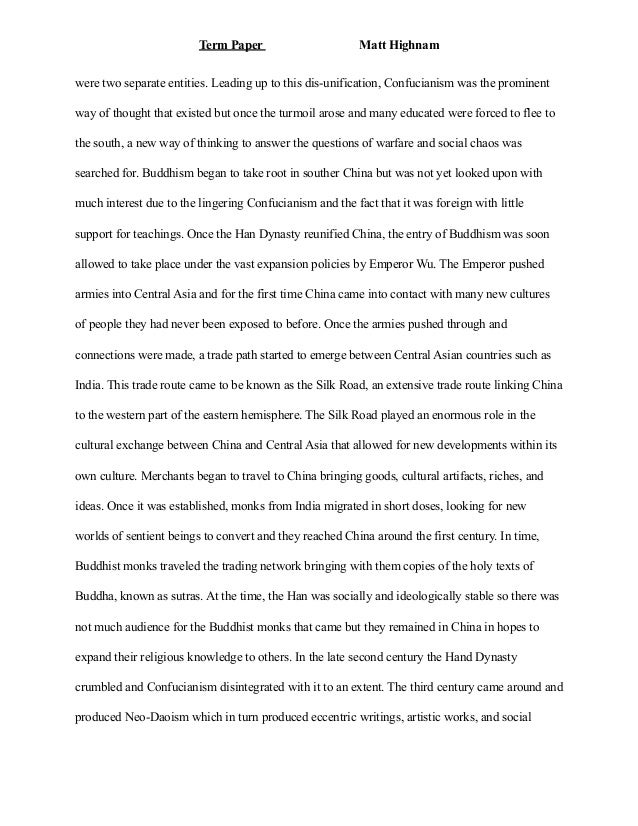 Term paper for art