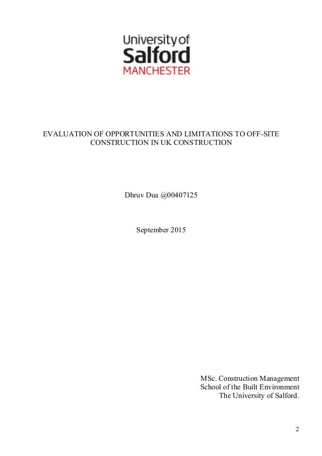 Dissertation construction ethics
