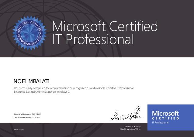 MCITP Desktop Administrator on Windows 7
