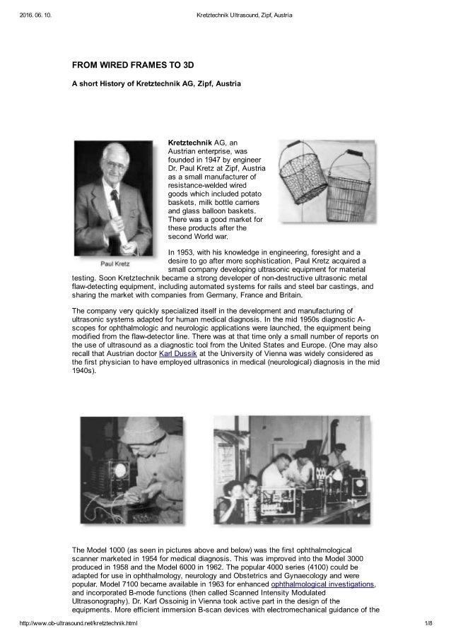 Kretztechnik Ultrasound History (ENG)