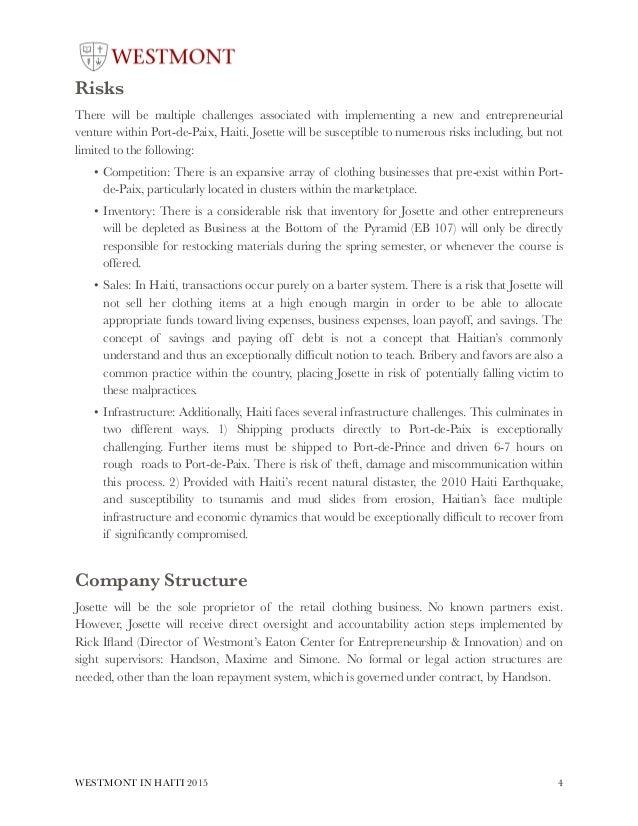 Retail clothing business plan