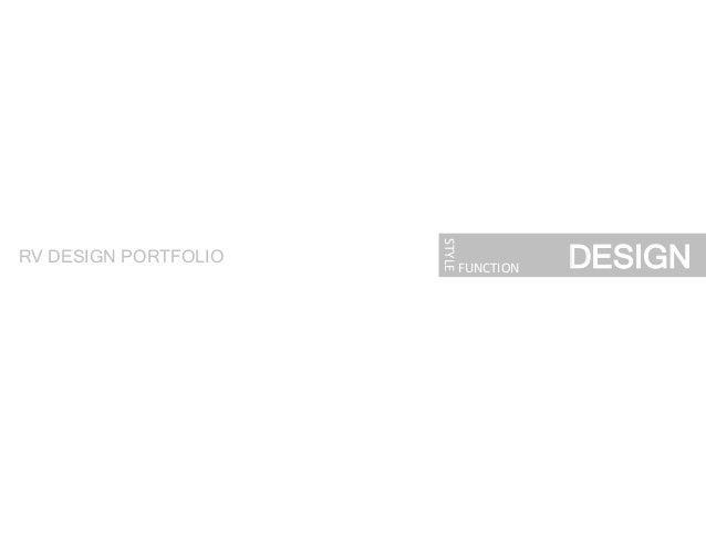 DESIGN STYLE   FUNCTION   RV DESIGN PORTFOLIO