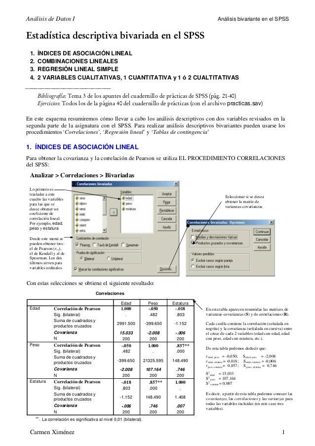 Análisis de Datos I                                                                                   Análisis bivariante ...