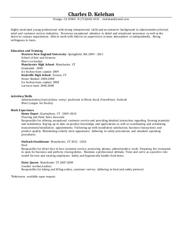 Resume young professional