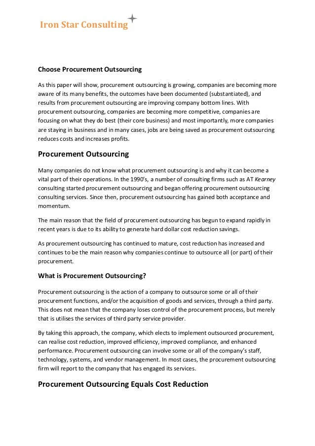 How would I create a research paper topic proposal on outsourcing?