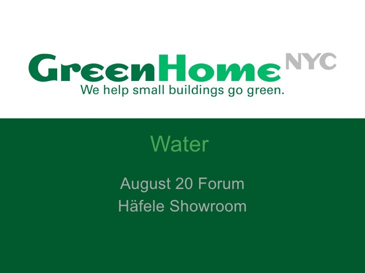 Water August 20 Forum Häfele Showroom