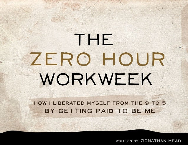 the zero hour workweekContentsINTRODUCTION: WHAT IS THIS ALL ABOUT?PART ONE: MY STORY OF LIBERATIONPART two: my journey to...