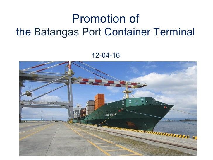 Introduction & summary of Batangas Port presentation by JICA-JCCIPI