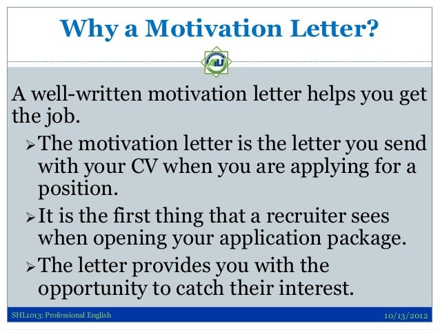 how to write a convincing letter of application