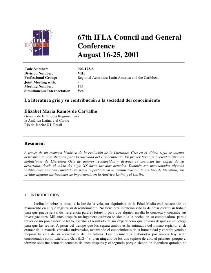 67th IFLA Council and General                                    Conference                                    August 16-2...