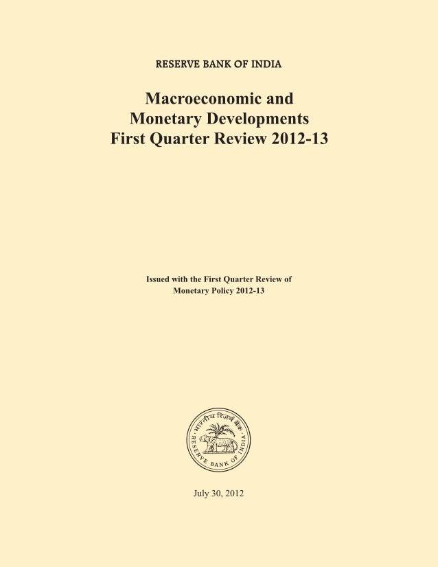 MICRO ECONOMIC AND MONETARY DEVELOPMENT