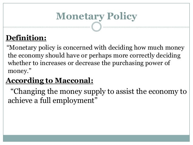 Write my monetary policy essay