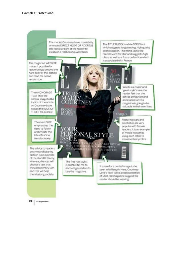 Magazines part 1: Student examples