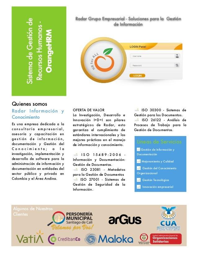 Orangehrm - Radar Grupo Empresarial