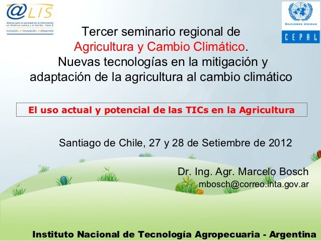 El uso actual y potencial de las TICs en la Agricultura