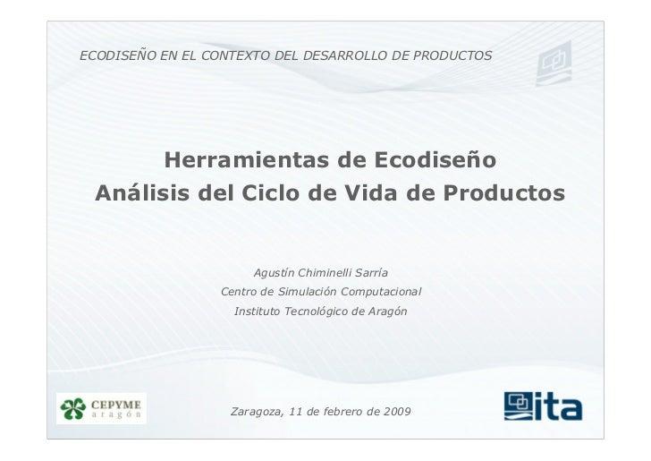 Herramientas de Ecodiseño: Análisis del ciclo de vida de los productos